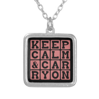 Keep Calm and Carry On, Internet Meme Personalized Necklace