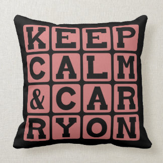 Keep Calm and Carry On Internet Meme Pillow