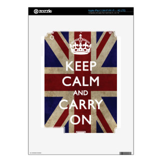 Keep Calm And Carry On iPad 3 Decal