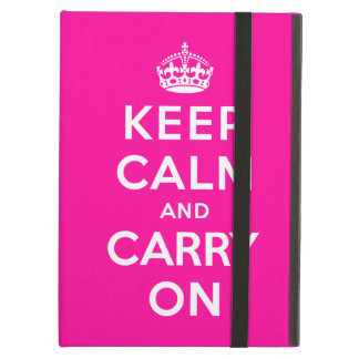 Keep Calm and Carry On iPad Air Cases