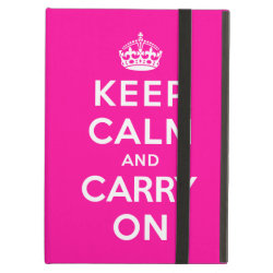 iPad Air Powis Case with Keep Calm and Carry On (Magenta) design