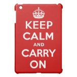 Keep Calm and Carry On iPad Mini Case