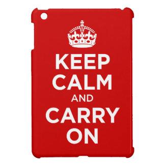 keep calm and carry on iPad mini cover