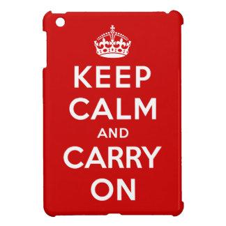 Keep Calm and Carry On iPad Mini Covers