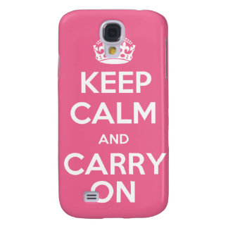 Keep Calm and Carry On iPhone3G Case Galaxy S4 Cover