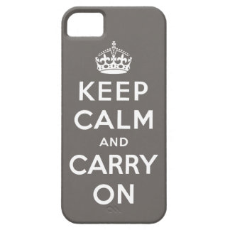 Keep Calm and Carry On iPhone 4 Speck Case (Grey)