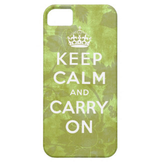Keep Calm and Carry On iPhone 5 Case Floral