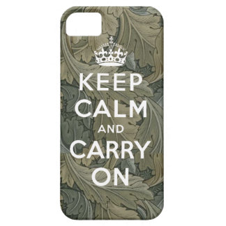 Keep Calm and Carry On iPhone 5 Case Green Black