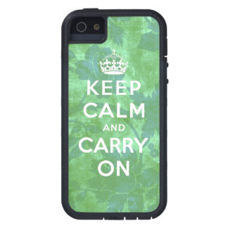 Keep Calm and Carry On iPhone 5 Case Green Floral
