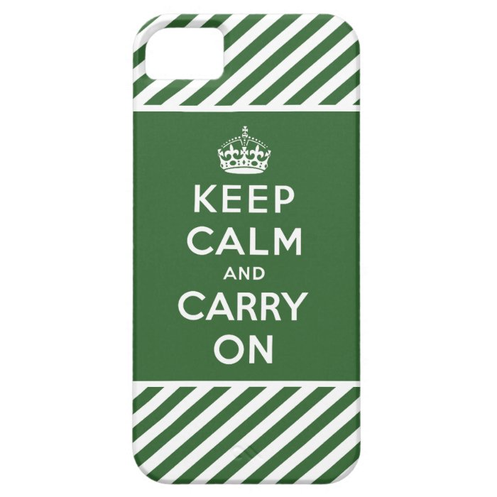 Keep Calm and Carry On iPhone 5 Case Green White