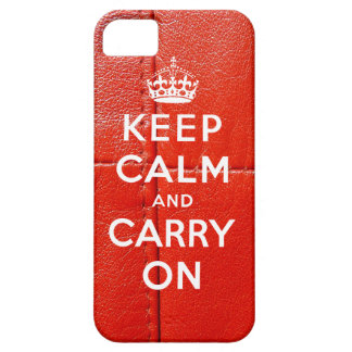 Keep Calm and Carry On iPhone 5 Case Leather Print