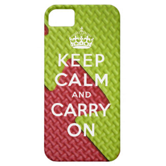 Keep Calm and Carry On iPhone 5 Case Mat Print