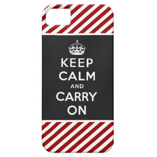 Keep Calm and Carry On iPhone 5 Case Red Black