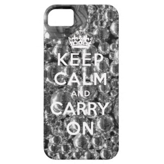 Keep Calm and Carry On iPhone 5 Case Silver