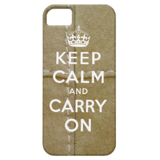 Keep Calm and Carry On iPhone 5 Case Suede Print