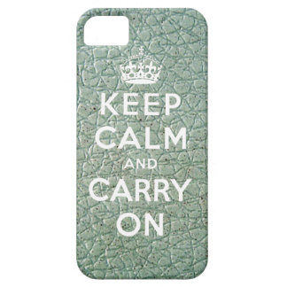 Keep Calm and Carry On iPhone 5 Case Vinyl Print