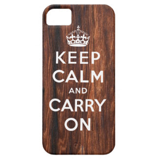 Keep Calm and Carry On iPhone 5 Case | Wood Print
