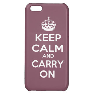 Keep Calm and Carry On iPhone 5C Cases