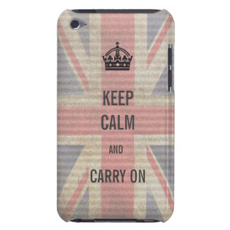 keep calm and carry on iPod Case-Mate case