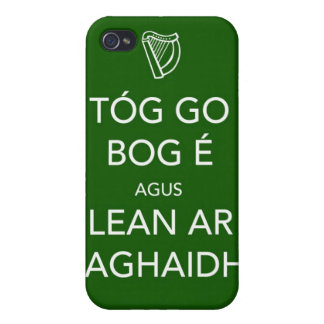 Keep Calm and Carry On IRISH Cover For iPhone 4