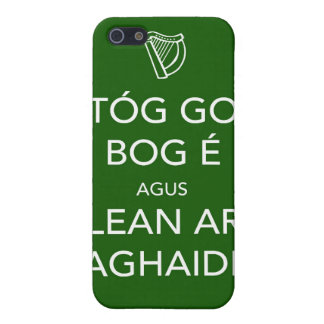 Keep Calm and Carry On IRISH Cover For iPhone SE/5/5s