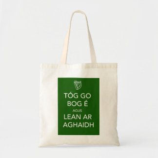 Keep Calm and Carry On IRISH Tote Bag