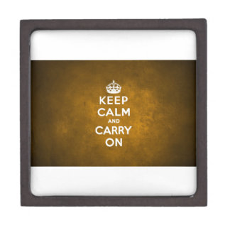 Keep Calm And Carry On Jewelry Box