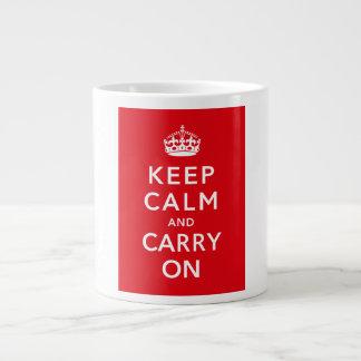 Keep Calm and Carry On Jumbo Mug