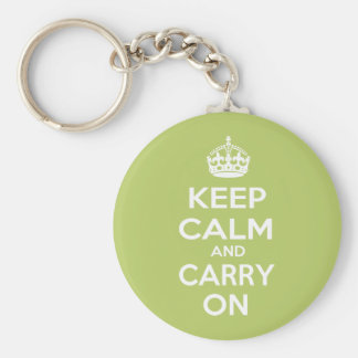 Keep Calm and Carry On Keychain