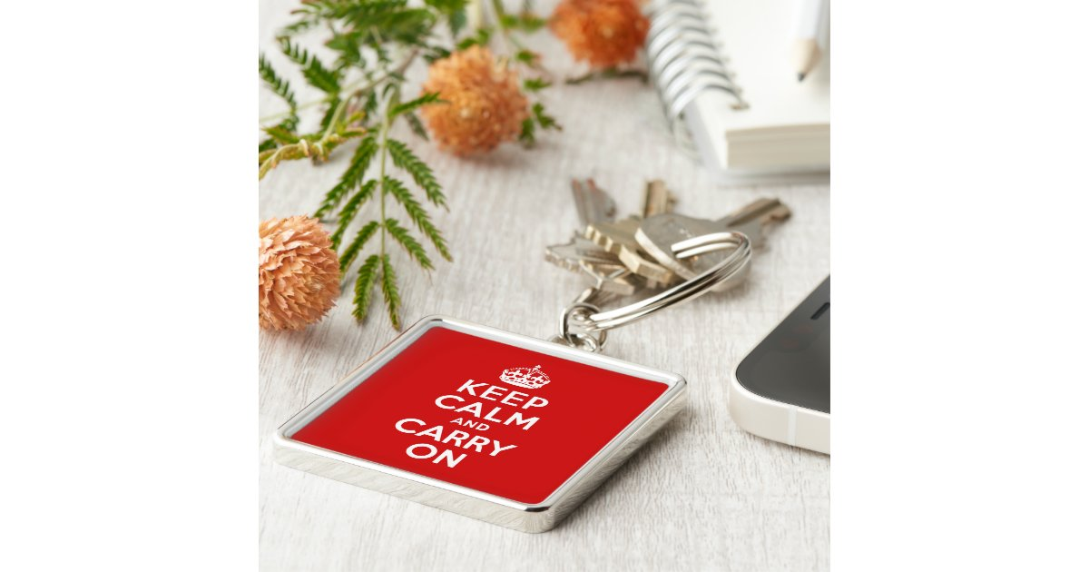 keep calm and carry on keychain zazzle. Black Bedroom Furniture Sets. Home Design Ideas