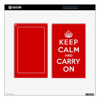 Keep Calm and Carry On Kindle Skin
