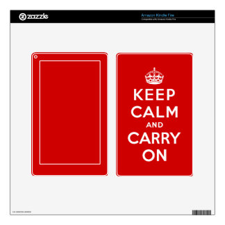 Keep Calm and Carry On Kindle Skin
