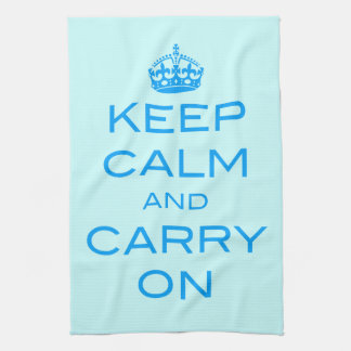 Keep Calm and Carry On Kitchen Towel - Any Color!