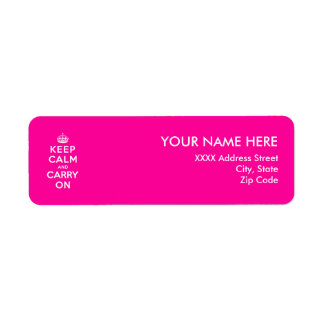 Keep Calm and Carry On Return Address Labels
