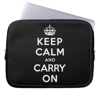 Keep Calm and Carry On Laptop Computer Sleeve