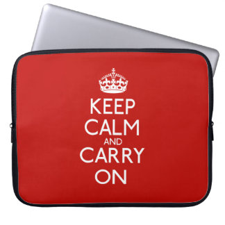 Keep Calm And Carry On Laptop Computer Sleeves