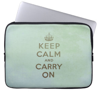 Keep Calm and Carry On Laptop Sleeve