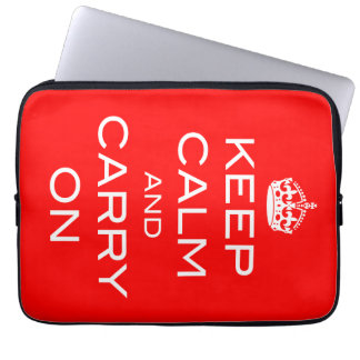 Keep Calm and Carry On Laptop Sleeve Any COLOR