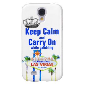 Keep Calm and Carry On Las Vegas Gamblers Samsung Galaxy S4 Cover