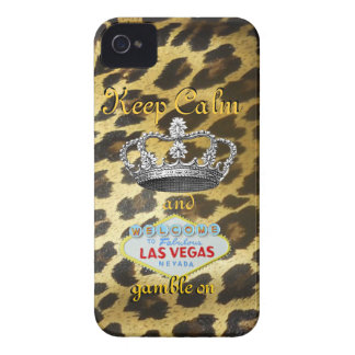 Keep Calm and Carry On Las Vegas iPhone 4 Cover