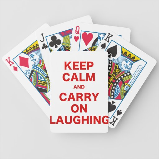 Keep Calm and Carry On Laughing Bicycle Playing Cards