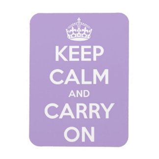 Keep Calm and Carry On Lavender Rectangle Magnet