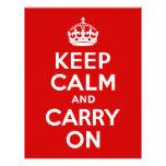 Keep Calm and Carry On Letterhead