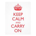 Keep Calm and Carry On Letterhead Design