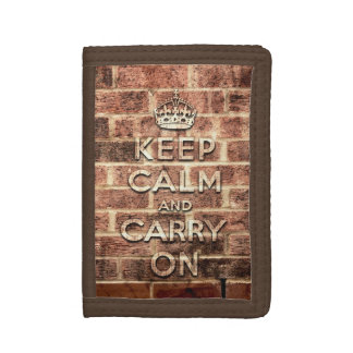 keep calm and carry on - London brick Trifold Wallet