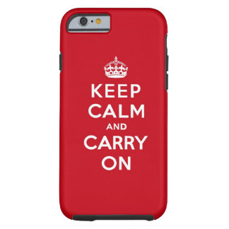 Keep Calm and Carry On London Red Tough iPhone 6 Case