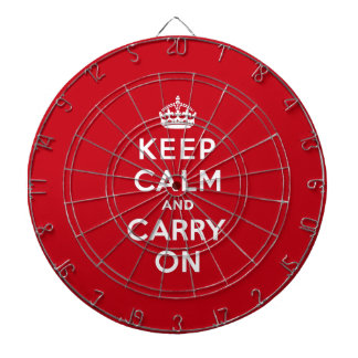 Keep Calm and Carry On London Red Dartboard