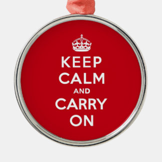 Keep Calm and Carry On London Red Metal Ornament