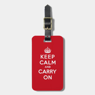 Keep Calm and Carry On London Red Tag For Luggage