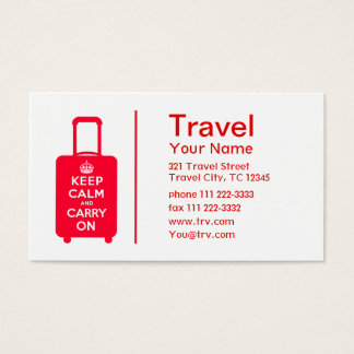 Keep Calm and Carry on Luggage Business Card